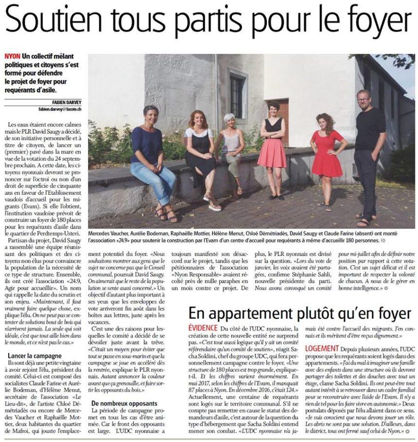 Article journal La Côte 12_07-2017