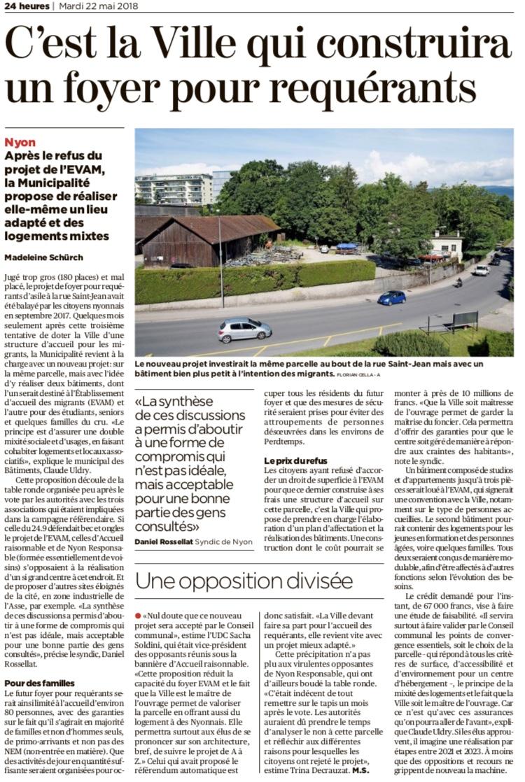 Journal 24Heures 22 mai 2018