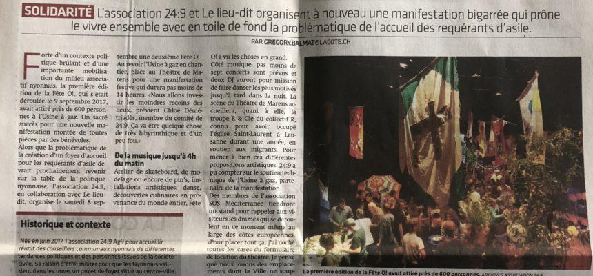 Journal La Côte 30 Août 2018